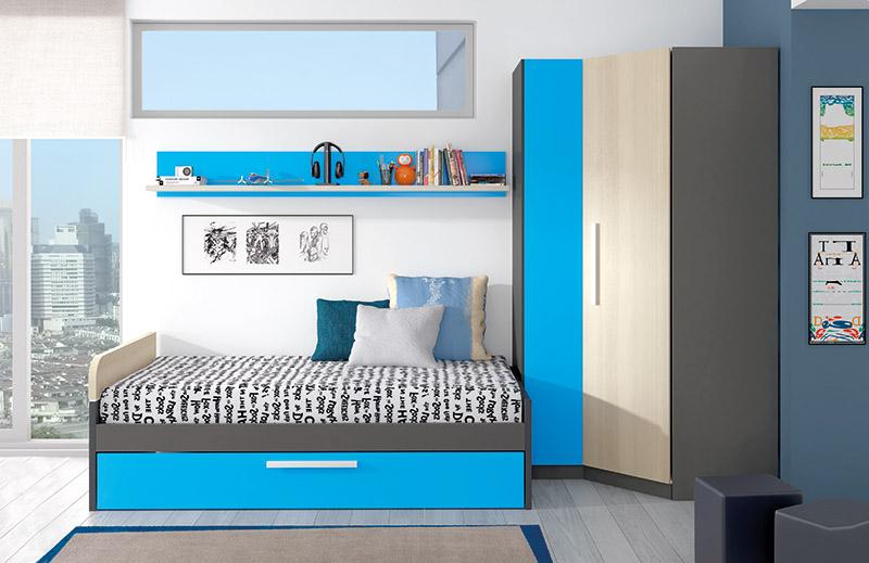 Muebles, Dormitorios Juveniles, Juveniles completos, Dormitorio juvenil Koon ...