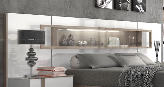Muebles dormitorios matrimonio cabeceros cabecero con - Cabeceros con luz ...