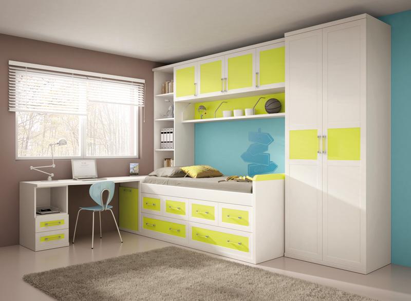 Muebles dormitorios juveniles juveniles completos for Composicion dormitorio juvenil