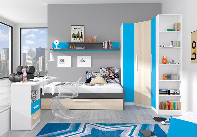 Muebles, Dormitorios Juveniles, Juveniles completos, Dormitorio