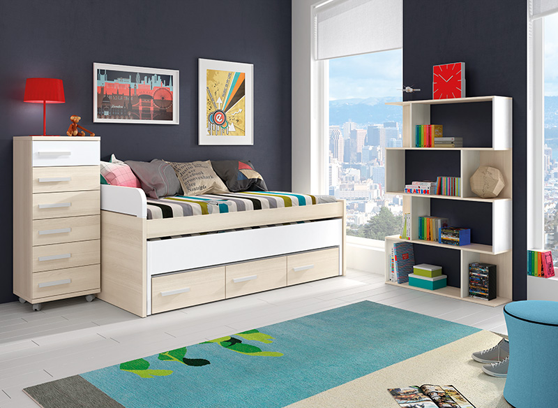 Muebles, Dormitorios Juveniles, Juveniles completos, Dormitorio juvenil Justi...