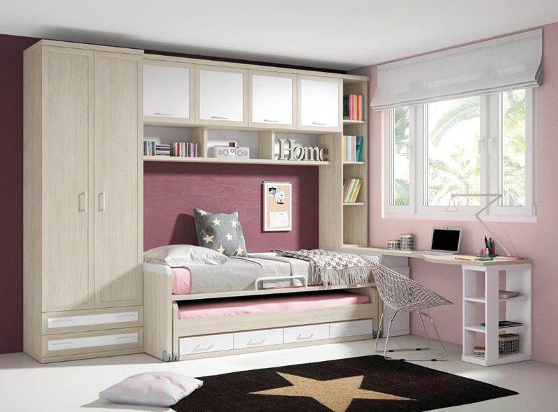 Muebles dormitorios juveniles juveniles completos for Muebles el paraiso
