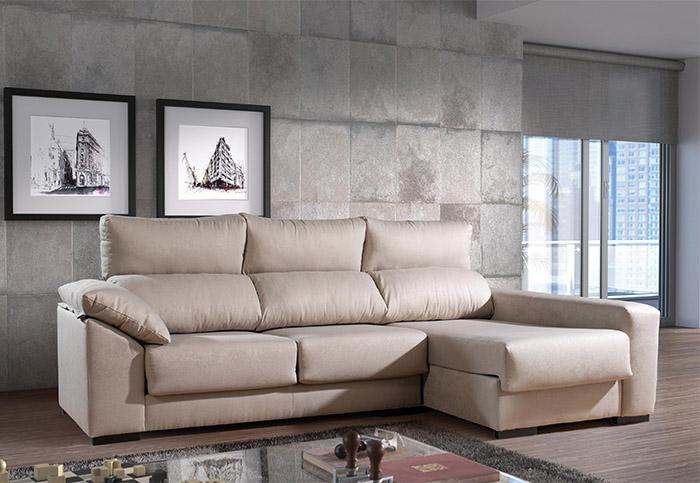 Muebles sof s sof tela sof con chaisse longue santana for Muebles el paraiso