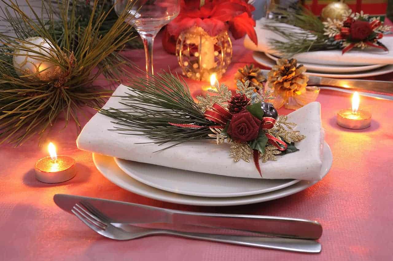 Mesa de comedor para Navidad