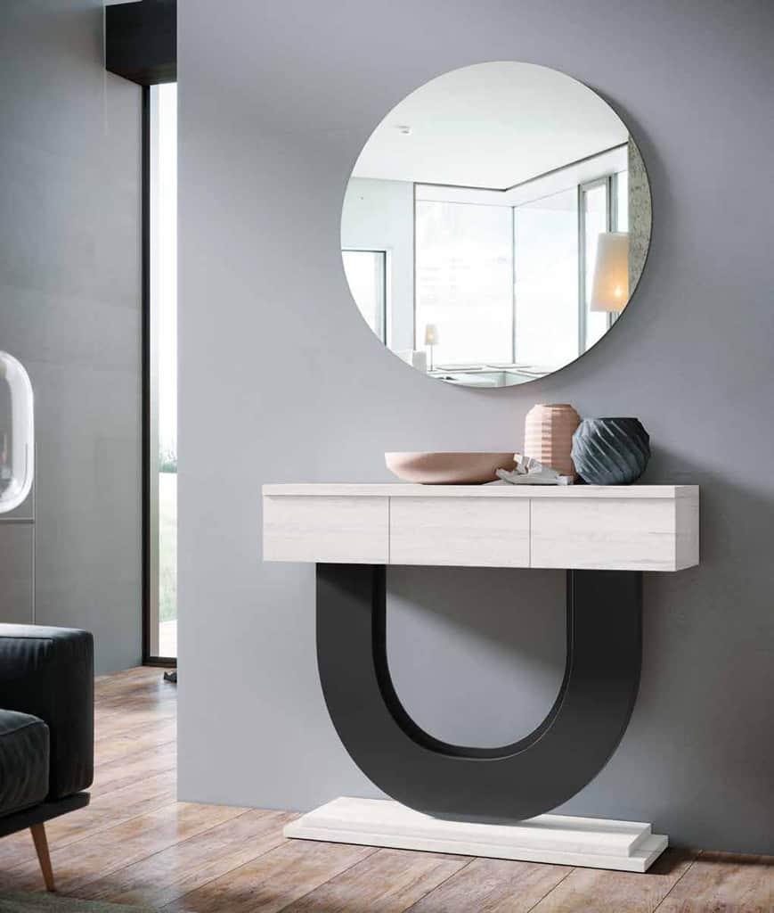 Mueble recibidor minimalista