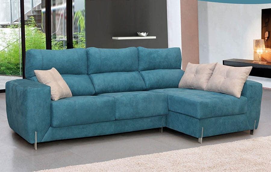 Sofá azul de diseño