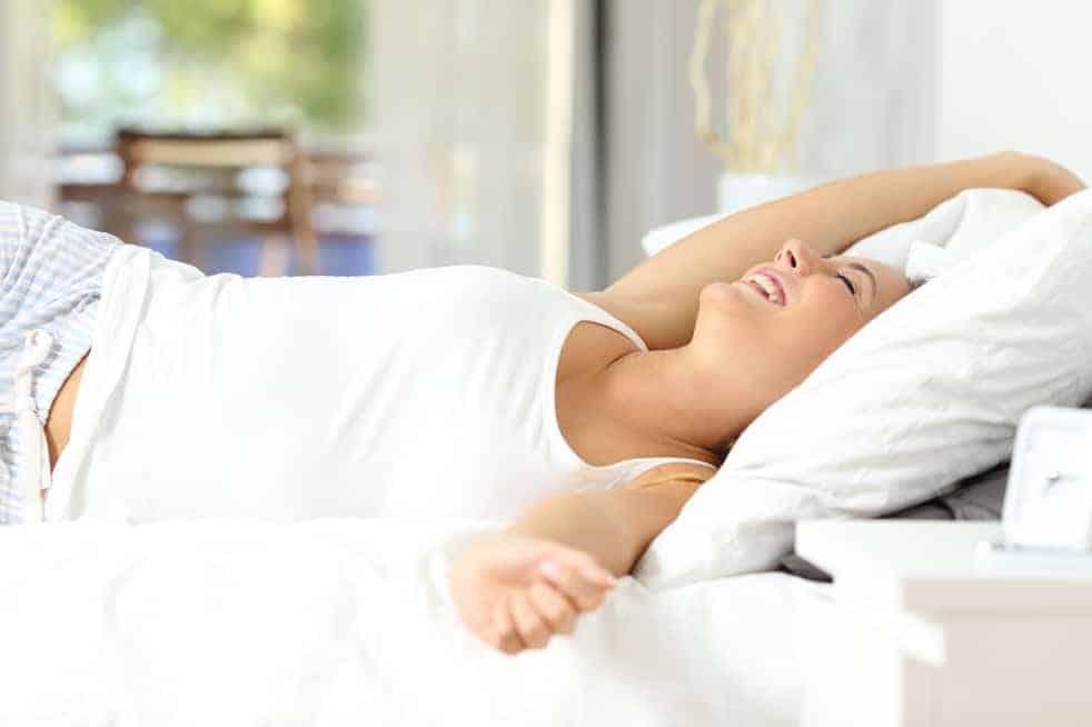 Mujer en colchón