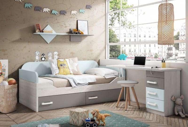 Habitaciones infantiles para estudiar y jugar