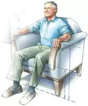 Mejor postura para sentarse en Sillón El Paraiso