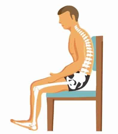 Postura en silla | Altura adecuada