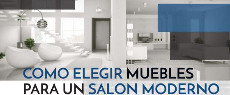 Como elegir muebles para un salón moderno
