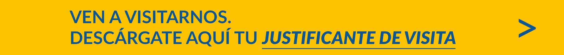 Banner justificante de visita