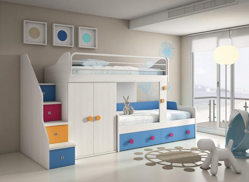 Dormitorio juvenil con literas Nara
