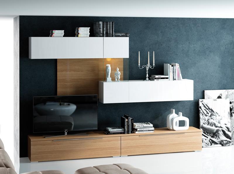 Muebles salones apilables mueble de sal n vitri 330 for Muebles nogal yecla