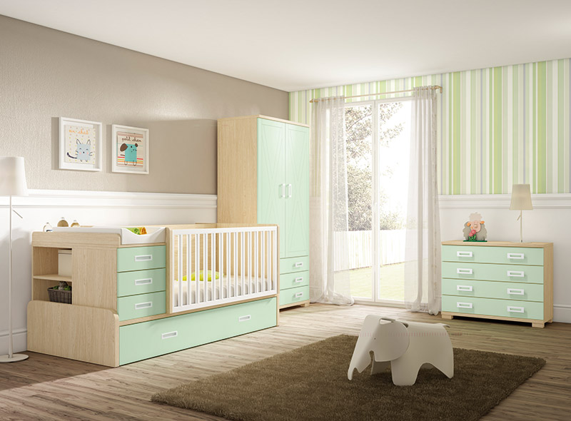 Muebles, Dormitorios Juveniles, Juveniles completos, Cama cuna ...