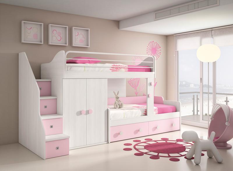 Muebles dormitorios juveniles juveniles completos - Dormitorios con literas para ninos ...