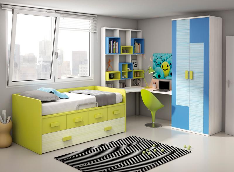 Muebles dormitorios juveniles juveniles completos - Cortinas para dormitorio juvenil ...