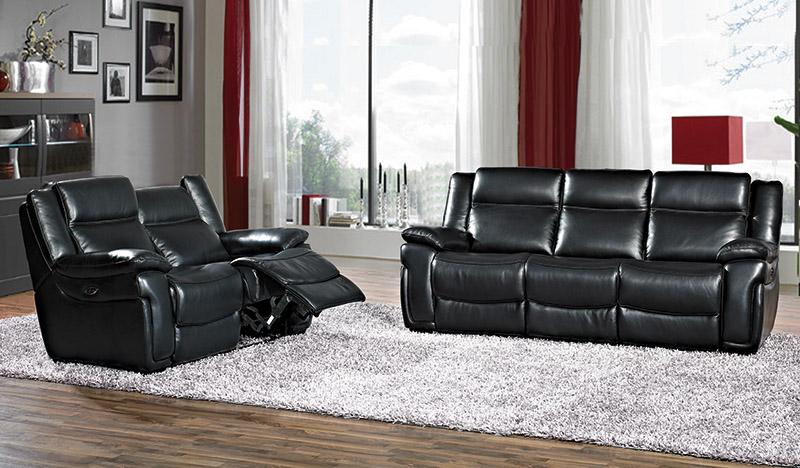 Muebles, Sofás, Sofá piel, Sofá 3 plazas eléctrico Ally | Muebles El ...