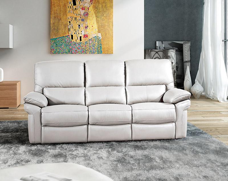 Muebles sof s sof piel sof 3 plazas en piel laura - Sofa de tres plazas ...