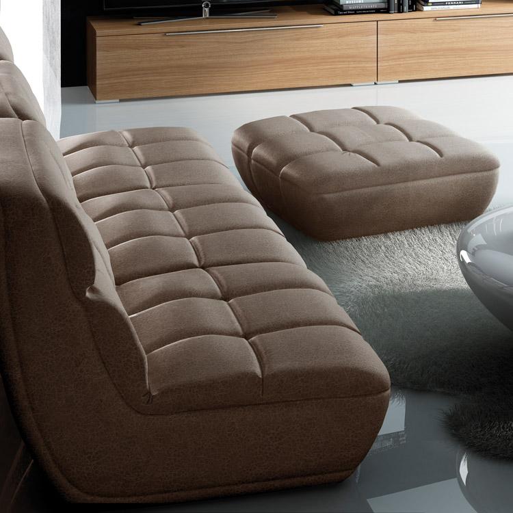 Muebles sof s sof tela sof modular de 3 m dulos laura for Sofa modular tela