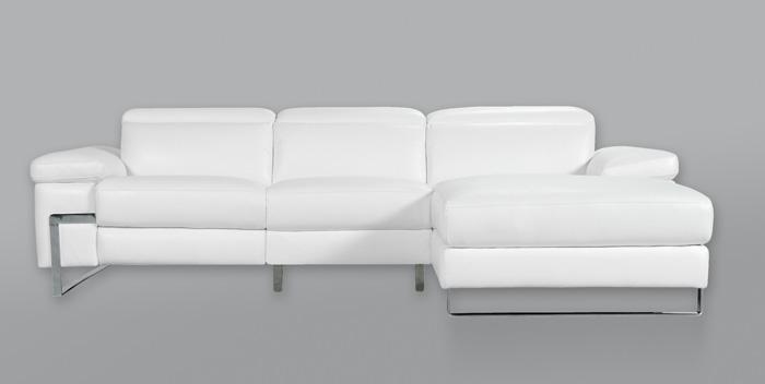 Sofá de piel con chaise longue Erika