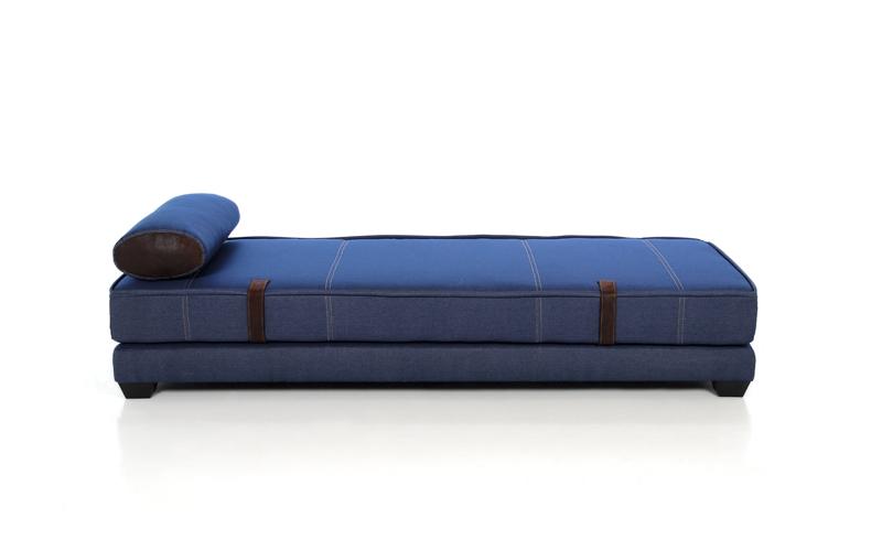 Muebles sof s sof s cama sof cama en tela vaquera for Sofa cama en tela